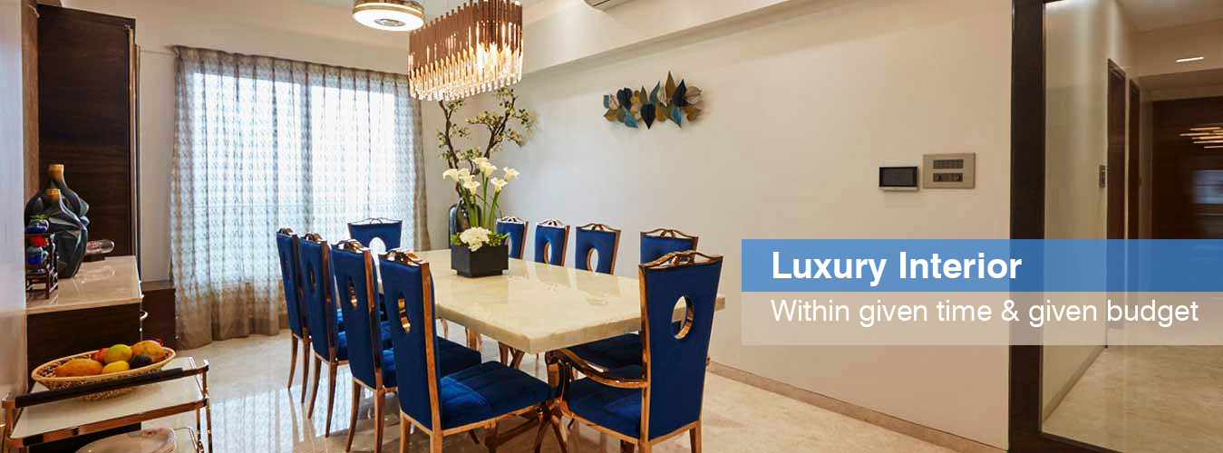 Lavishing dinning interior by Tanuja and associates
