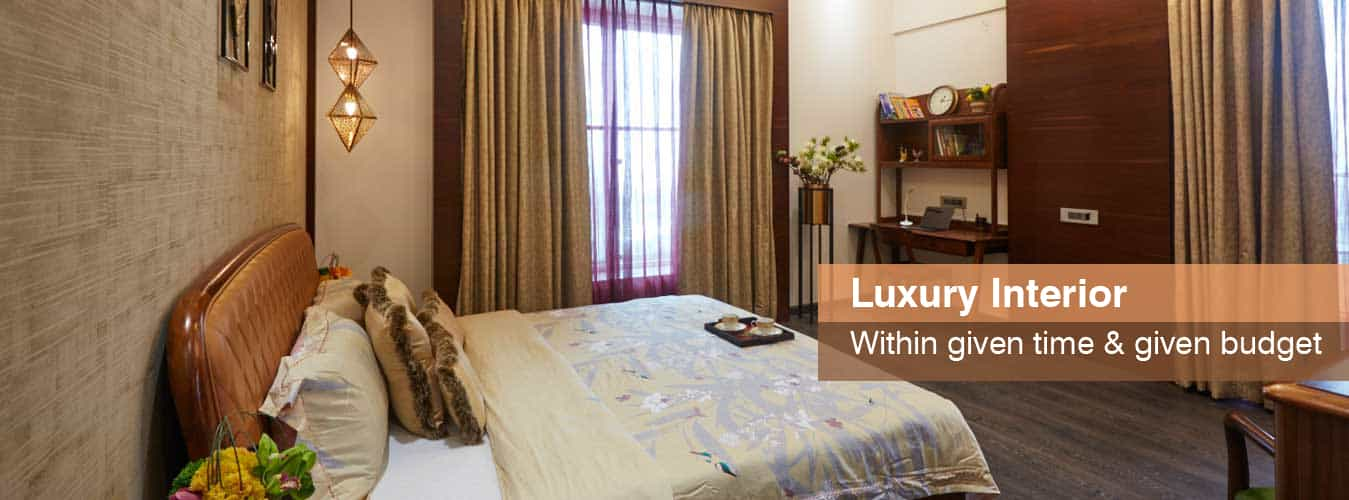 Luxurious & comfortable bed room interior by Tanuja and associates